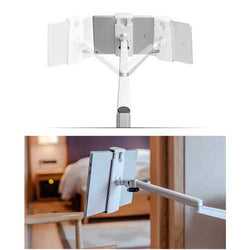 Universal Metal Multi-angle Rotation Clip Lazy Phone Holder Tripod for iPhone Mobile Phone iPad