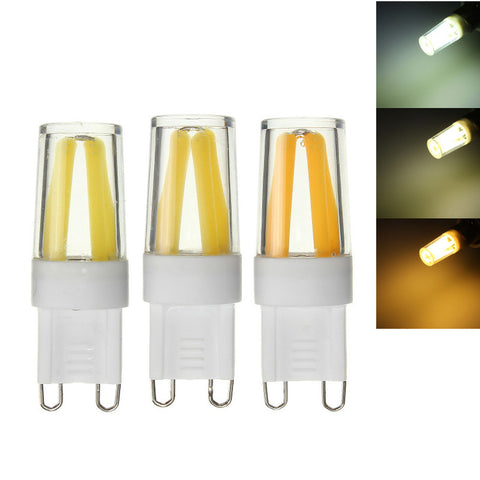 2W G9 Dimmable LED Pure White Warm White Corn Bulb Silicone Crystal COB Lamp Light AC 220V