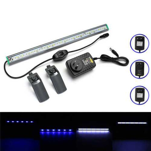 40cm 39 LED Fish Tank Aquarium Light White Blue Lamp Clip on Waterproof Bar AC110-240V