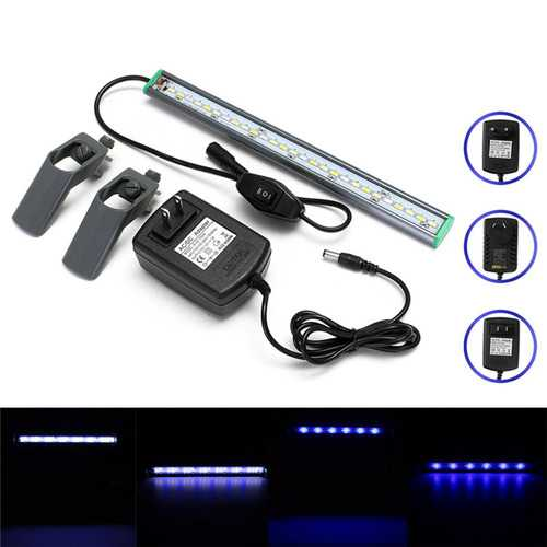 30cm 27 LED Fish Tank Aquarium Light White Blue Lamp Clip on Waterproof Bar AC110-240V