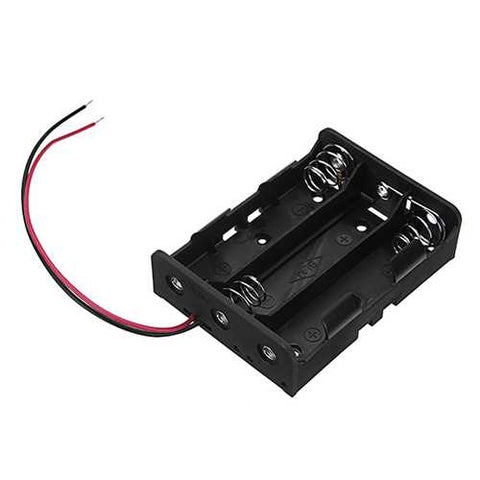 10pcs DC 11.1V 3 Slot 3 Series 18650 Battery Holder Box Case With 2 Leads And Spring
