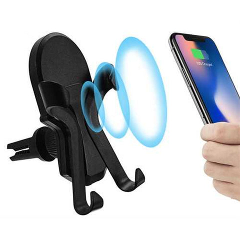 Universal Qi Wireless Charge 360 Degree Rotation Car Mount Phone Holder for Samsung Mobile Phone