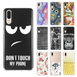 Bakeey Ultra Slim Cartoon Painting Soft TPU Protective Case for Huawei P20