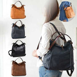 Brenice Women Tote Handbag Vintage Multifuntion Backpack Shoulder Crossbody Bag