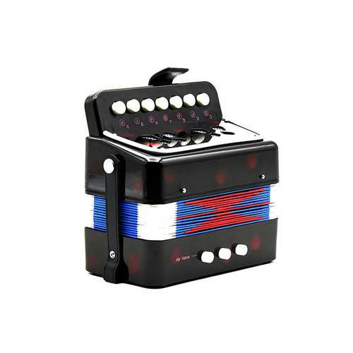 Mini 7 Keys 2 Bass Accordion Educational Musical Instrument Rhythm Band for Kids