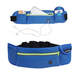 Outdoor Sports Large Capacity Breathable Reflective Stripe Earphone Hole Waist Bag for Mobile Phone