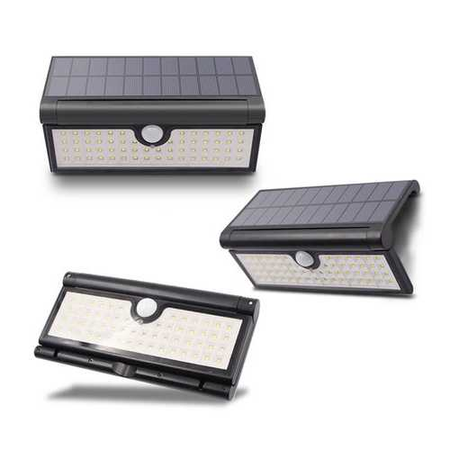 GLIME 3W 58x LED 2835600LM Light Control & Human Induction Function Folding Solar Wall Work Light