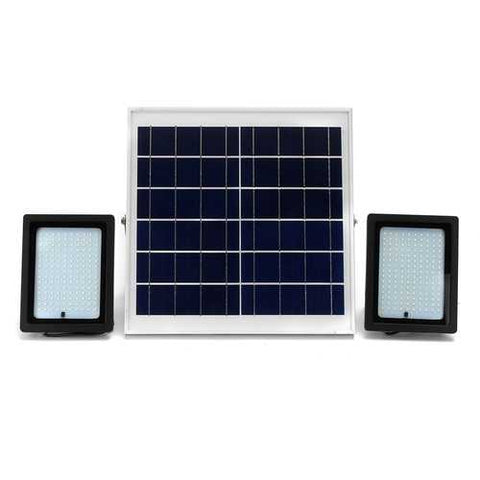 2 Pcs 20W Waterproof 150 LED Flood Light Remote Control Light Sensor Solar Light
