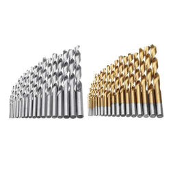 Drillpro 19pcs 1-10mm HSS Twist Drill Bit Set Straight Shank Twist Drill Bit