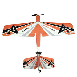 KEYI-UAV Hero 2.4G 4CH 1000mm PP Trainer RC Airplane RTF With Self-stability Flight Control