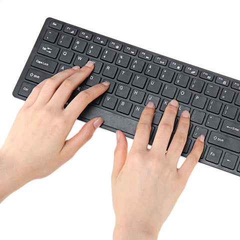 Ultra Thin 2.4GHz Wireless 101 Keys Keyboard and 1000DPI Mouse Combo Set With Keyboard Cover