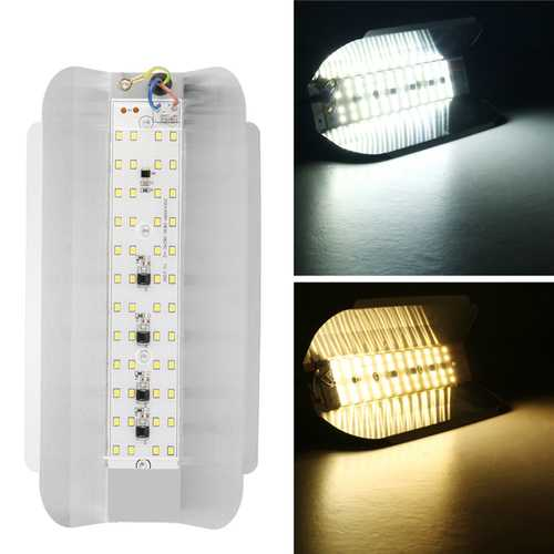 50W Outdoor 48 LED Flood Light Iodine Tungsten Lamp for Factory Park Garden AC220V