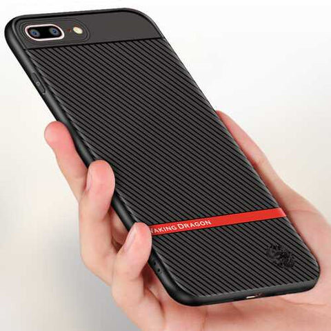 Carbon Fiber Anti Fingerprint Protective Case For iPhone 8 Plus/iPhone 7 Plus 5.5