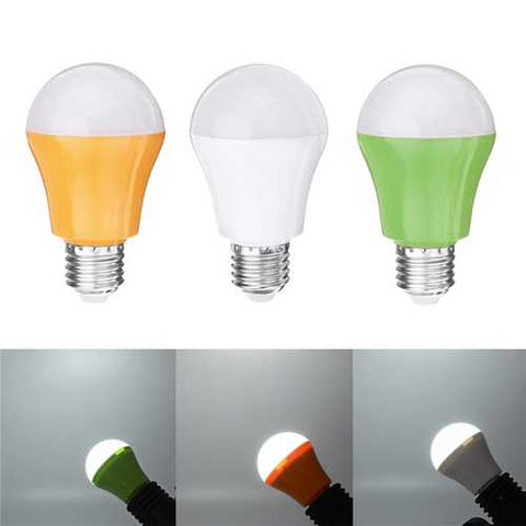E27 4W 2835 SMD White Intelligent Voice Light Control LED Bulb Lamp for House Hallway AC220V