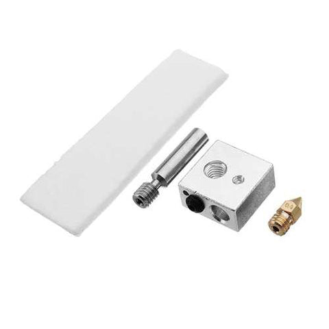 CTC MK8 0.4 mm Extruder Nozzle + PTFE Throat + Heating Block + Insulation Tape Hotend Kit For 3D Printer