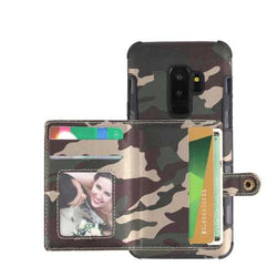 Camouflage Wallet Card Slots Protective Case For Samsung Galaxy S9 Plus