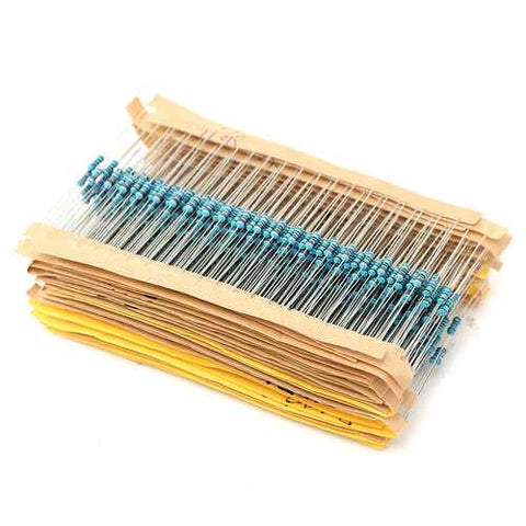 9360pcs 1% 1/4W Metal Film Resistor Kit 156 Value 1R-10M Ohm Component Pack