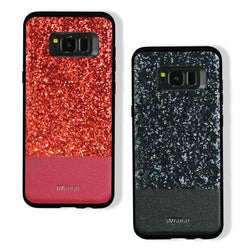 DZGOGO Diamond Bling PU Leather Protective Case for Samsung Galaxy S8 Plus