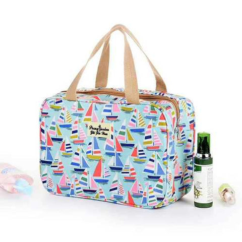 Women Waterproof Travel Bag Print Fashion Nylon Swimming Wash Storage Bag Cosmetic Bag Handbag