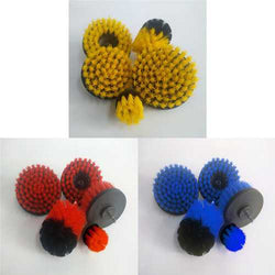5pcs 2/3.5/4/5 Inch Drill Brushes Scrubber Cleaning Brush Yellow/Blue/Red