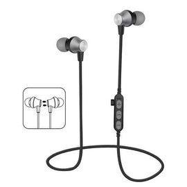 Mykind T2 bluetooth Earphone Magnetic Adsorption Heavy Bass TF Card Sports Headphone Earbuds