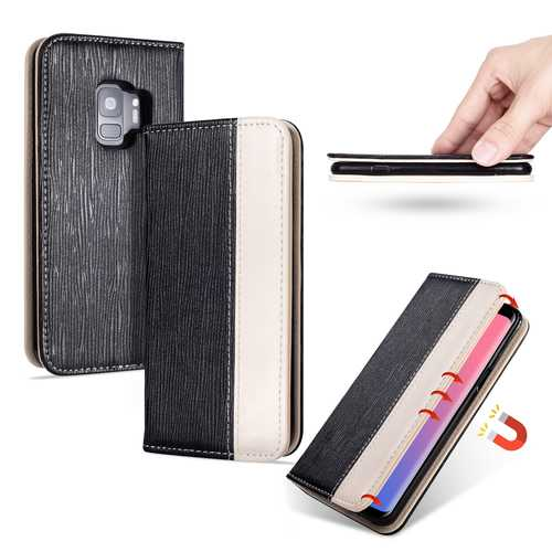 Bakeey Premium Magnetic Flip Card Slot Kickstand Protective Case For Samsung Galaxy S9
