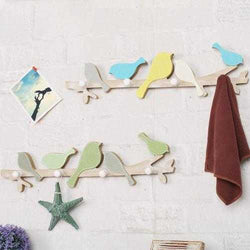 1PC European Retro Style Hanger Organizer DIY Simple Green Bird Wooden Tool Hook Wood Coat Retro Style Hanger Organizer Wall Mounts