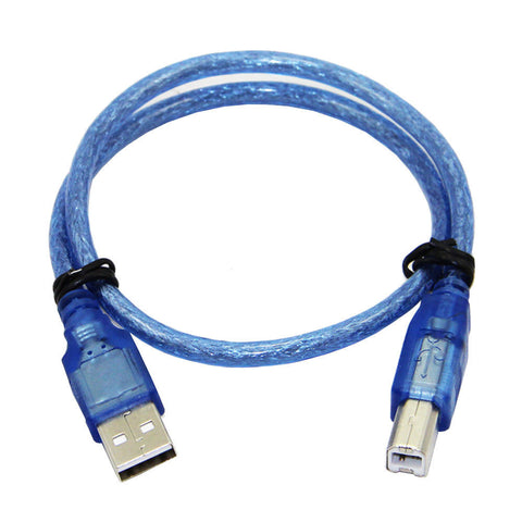 20pcs 30CM Blue USB 2.0 Type A Male to Type B Male Power Data Transmission Cable For