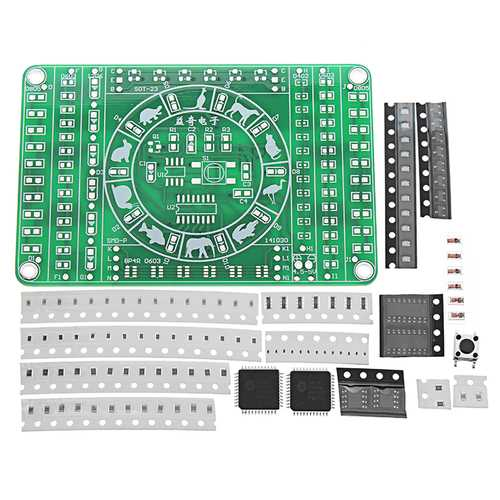 5pcs SMD Component Soldering Practice Board DIY Electronic Production Module Kit
