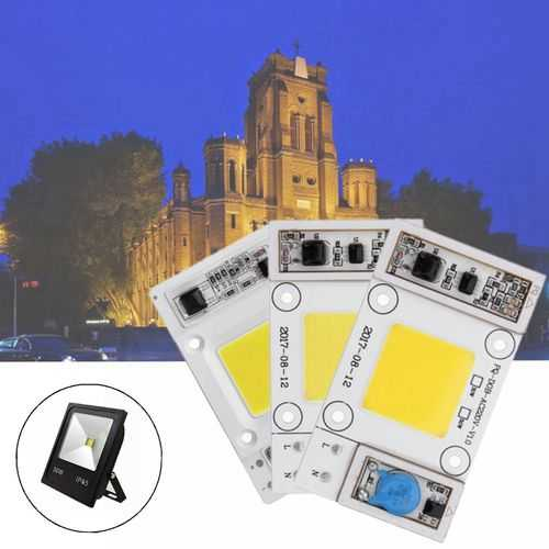 LUSTREON 50W Non-drive Thunder Protection COB LED Chip for DIY Flood Light Spotlight AC180-300V