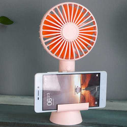 Multifunction Powerful Mini Fan Low Noise Aroma Desktop Phone Holder Stand for Xiaomi Mobile Phone