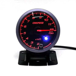 Universal 12V Car Auto 2.5 Inch 60mm LED Exhaust Gas Gauge