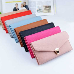 Women Large Capacity PU Leather Card Slots Wallet Pouch for Xiaomi Mobile Phone under 5.5 Inches