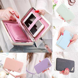 Universal High Heels Functional Phone PU Wallet Case Cover For Samsung Xiaomi Huawei Nubia
