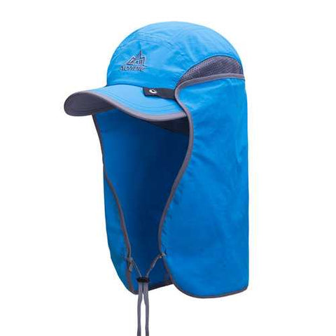 Men Outdoor UV Protection Detachable Cover Face Sunshade Hat