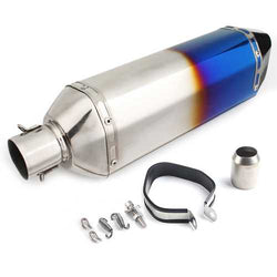 36-51mm Blue/Colorful Universal Stainless Steel Motorcycle Exhaust Muffler Pipe