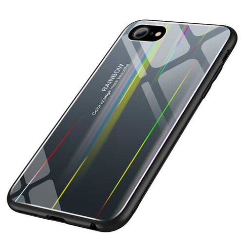 Laser Aurora Gradient Color Tempered Glass Protective Case for iPhone 6/6s