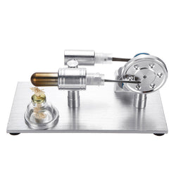 Metal Stirling Engine Model External Combustion With Light Bulb Developmental Toy