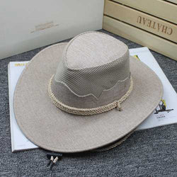 Men Women Outdoor Mesh Travel Sunshade Cowboy Hat