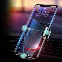 Baseus Metal Gravity Auto Lock Car Mount Air Vent Holder Stand for iPhone 8 Xiaomi Mobile Phone