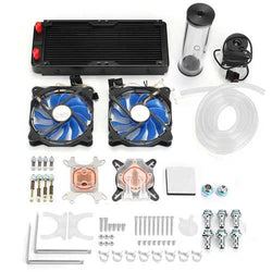 PC Water Cooling Kit 240mm Radiator Pump Reservoir CPU Block Rigid Tubes DIY