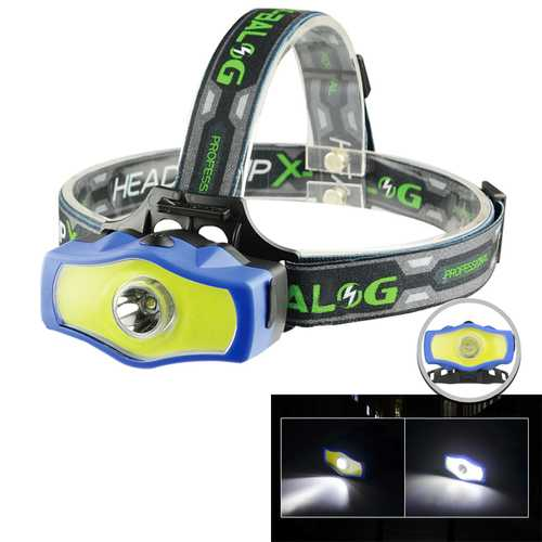XANES BL-929 T6+COB 850LM Dual Light Source Cycling Headlamp 3Modes Rechargeable Bike Headlamp