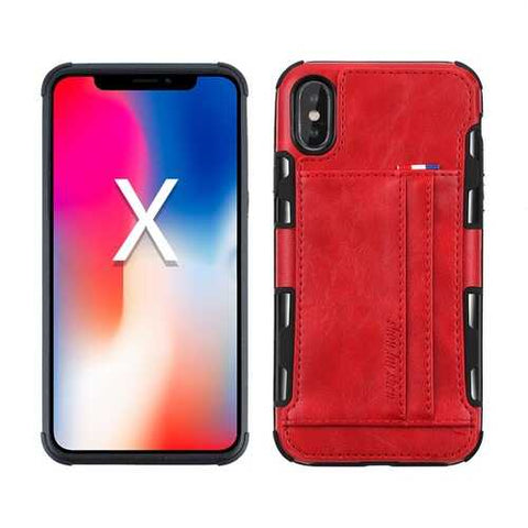 PU Leather Multi-card Slot Protective Case for iPhone X & 6/6Plus & 7/7Plus & 8/8Plus
