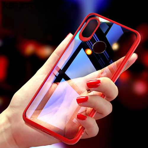 Bakeey 2 In 1 Shockproof TPU +PC Acrylic Back Protective Case For Xiaomi Mi8 Mi 8 6.21 inch