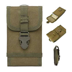 Universal 6 Inch Outdoor Sports Military Nylon Hook Belt Waterproof Phone Waist Bag For Smartphone