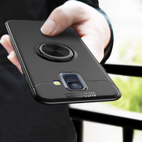 C-KU 360º Rotating Ring Grip Kicktand Protective Case For Samsung Galaxy A6 2018