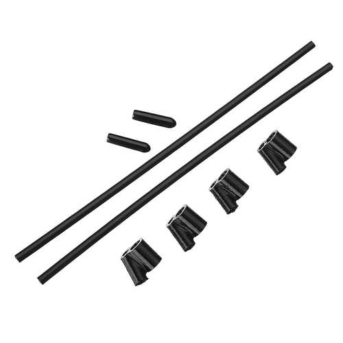 8PCS 40? TPU FPV RX Antenna Tube Holder w/ 4PCS 5.5 inches Antenna Tube for 5mm Standoffs Black