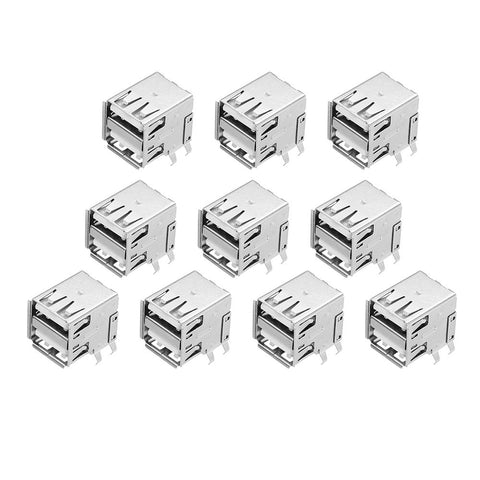 10pcs AF90 Degree Type A female Socket Connector Double USB Charging Socket USB Socket Interface