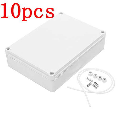 10pcs 180 x 130 x 45mm DIY Plastic Monitor Waterproof Housing Electronic Junction Case Power Supply Box Sealed Instrument Case Lithium Battery Shell
