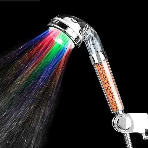 Handheld 7 Color LED Romantic Light Water Bath Home Bathroom Shower Head Glow